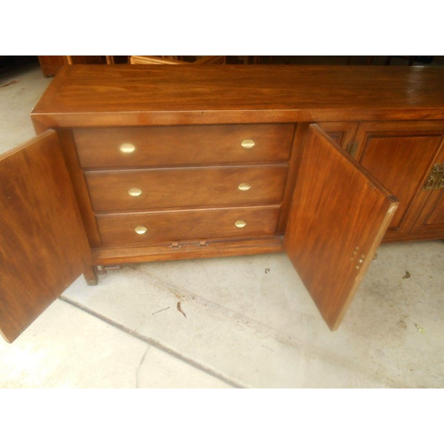 Mid-Century Maple and Brass Credenza by Century - Image 9 of 10