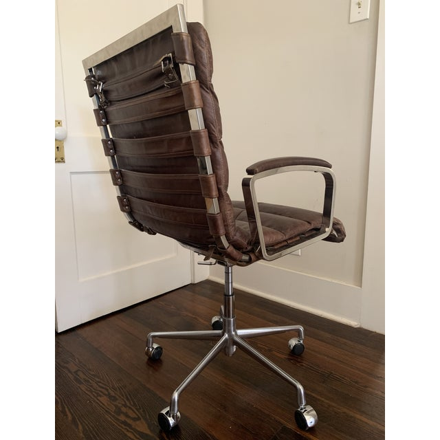 Awesome Modern Restoration Hardware Oviedo Leather Desk Chair Creativecarmelina Interior Chair Design Creativecarmelinacom