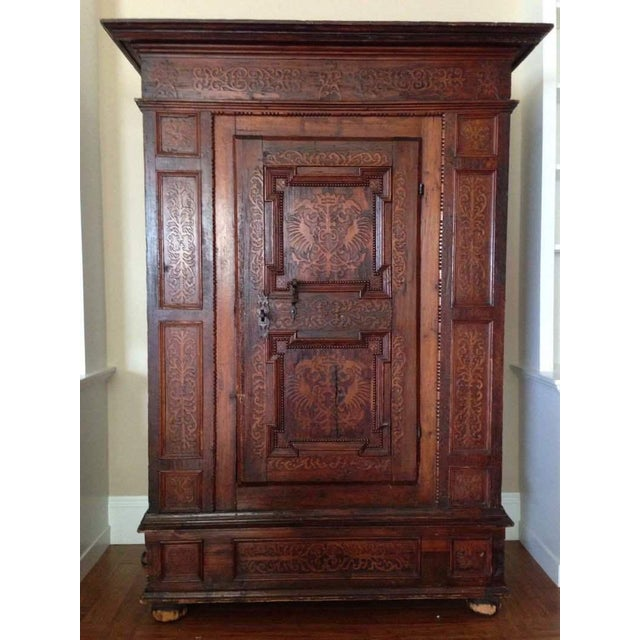 19th C. Gothic Renaissance Style Ornate Carved Cabinet - Image 2 of 4