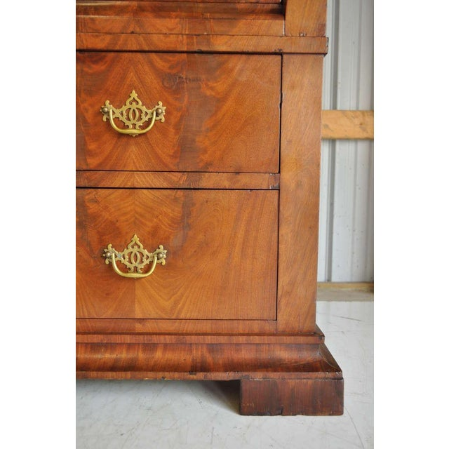 19th Century French Empire Flame Mahogany Drop Front Secretaire For Sale - Image 9 of 10