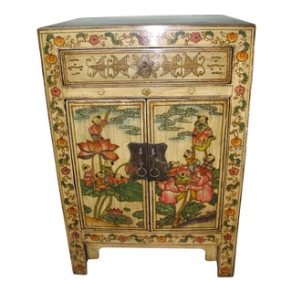 Chinese Decorated Bedside Chest