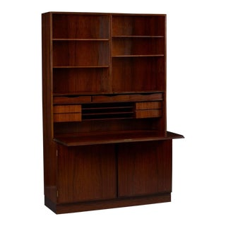 Danish Rosewood Wall Unit and Desk by Omann Jun For Sale