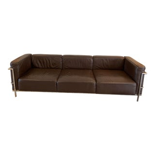 Late 20th Century Vintage Le Corbusier Lc3 Style Sofa For Sale