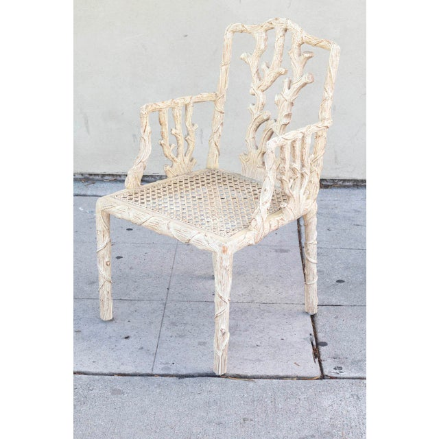 Decorative Branch Faux-Bois Chairs - Set of 4 - Image 10 of 10