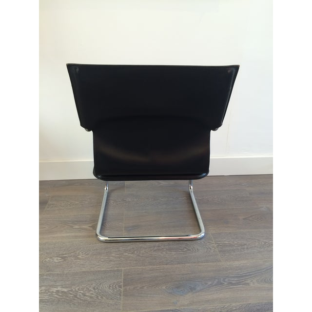 """Marcatre Black Leather & Chrome """"Uno"""" Chair For Sale In Los Angeles - Image 6 of 10"""