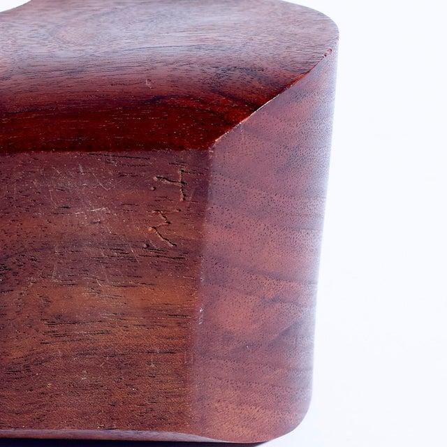 Contemporary Vintage Freeform Hand Carved Walnut Sculpture For Sale - Image 3 of 4