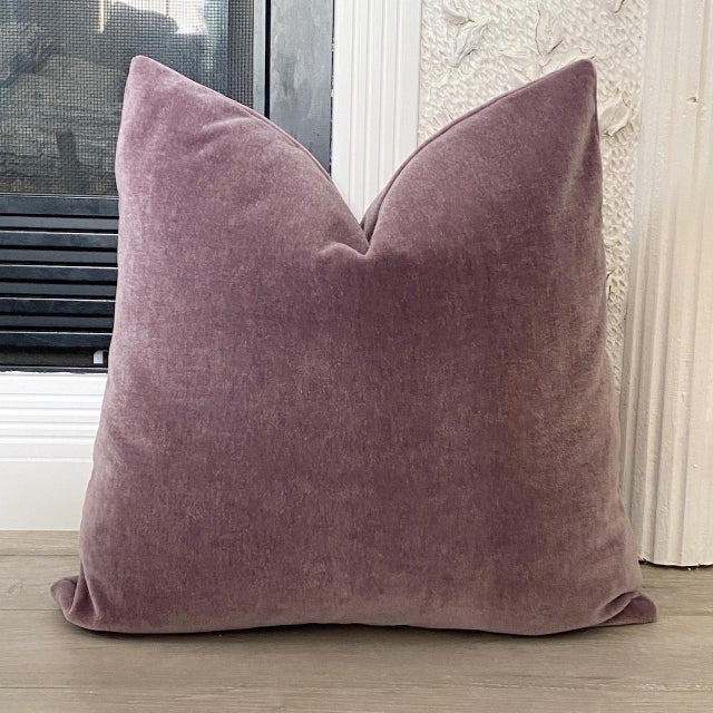 """Not Yet Made - Made To Order Amethyst Mohair 18"""" Pillows - a Pair For Sale - Image 5 of 6"""