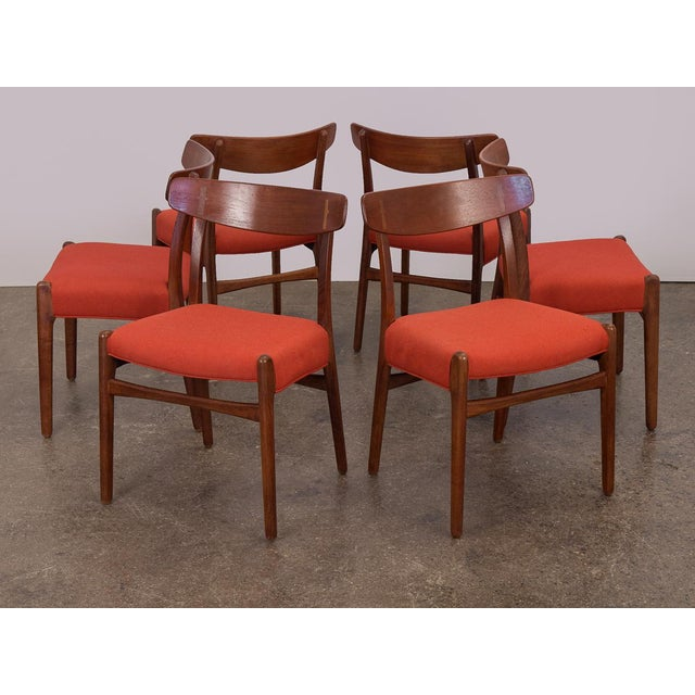 Set of Six Hans J. Wegner Ch-23 Dining Chairs For Sale - Image 11 of 11