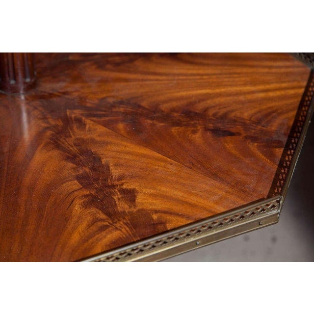 Jansen Mahogany Octagonal Two-Tier Table For Sale - Image 5 of 10