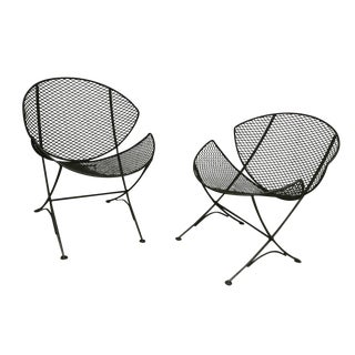 1950s Vintage Maurizio Tempestini for Salterini Lounge Chairs With Cushions - a Pair For Sale