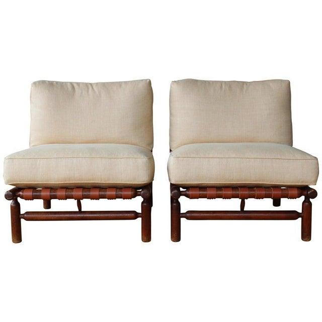 Ilmari Tapiovaara Walnut Lounge Chairs, Italy, 1957 - a Pair For Sale - Image 11 of 11