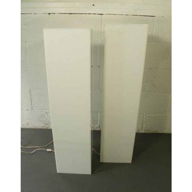Contemporary Vintage Mid-Century Modern Lit Art Pedestals - a Pair For Sale - Image 3 of 6