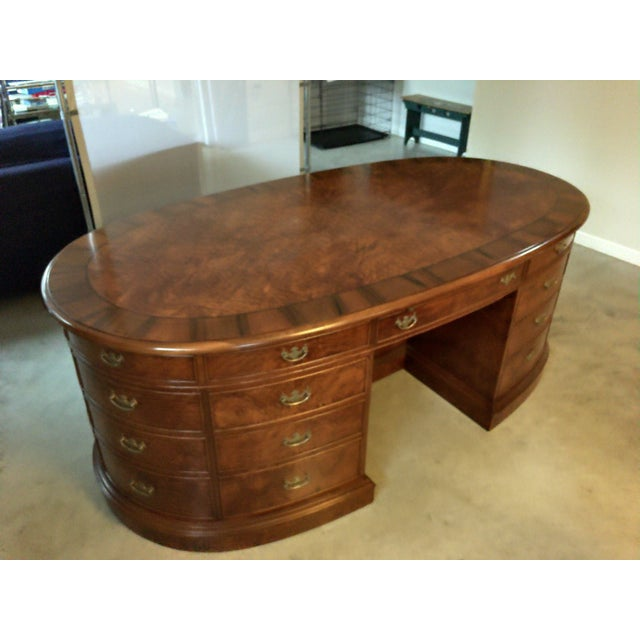 French Provincial Presidential Double Sided Desk - Image 2 of 11