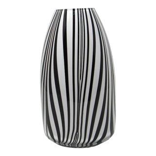 Jozefina Krosno Hand Blown Glass Zebra Vase For Sale