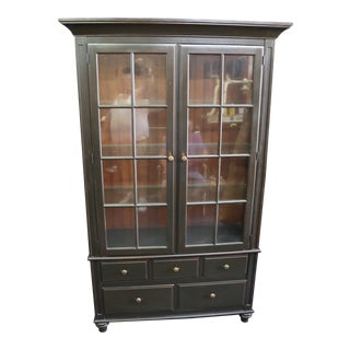 Nichols & Stone Country Style Bookcase / China Cabinet For Sale