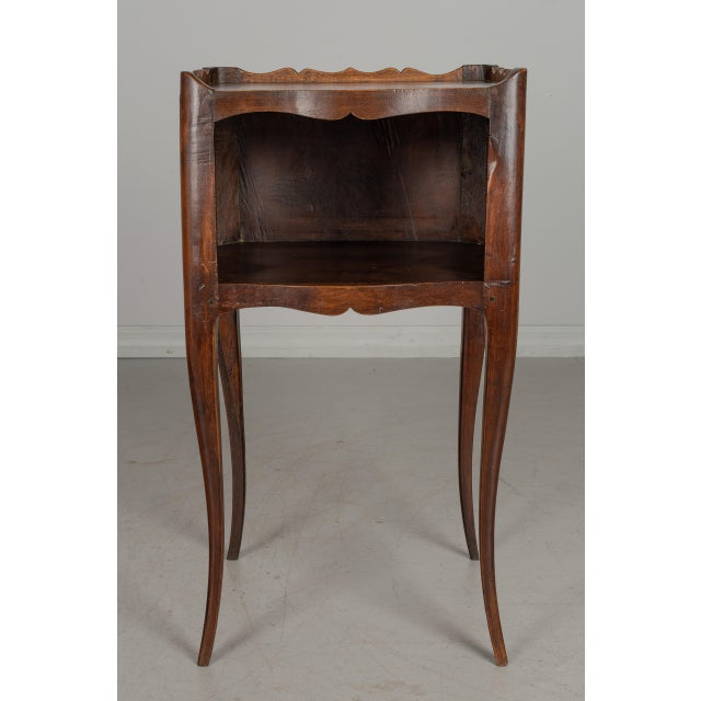 1930s French Louis XV Style Walnut Side Table For Sale - Image 4 of 9