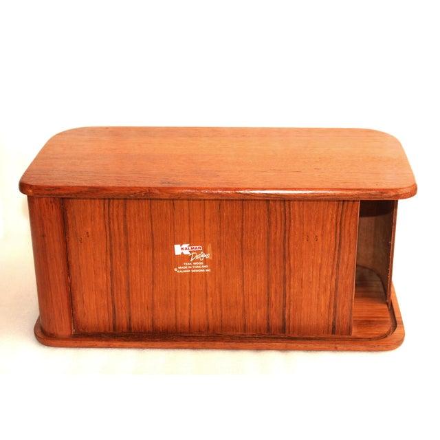 Kalmar Teak Roll Top Desk Organizer Box For In New York Image 6 Of