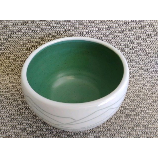 Ceramic Daric Harvie Art Deco Cubist Style Bowl For Sale - Image 7 of 9