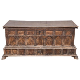 Late 18th Century Vintage French Gothic Chest For Sale