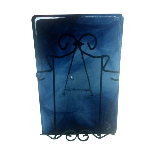 Blenko Blue Art Glass Panel - Image 1 of 7