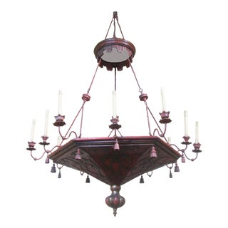 Special Midwest Delivery Italian / French 18thC Architectural Element Chandelier For Sale