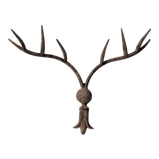 20th Century Southwestern Iron Antler Wall Rack For Sale