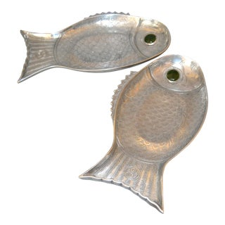 Midcentury Arthur Court Fish Serving Platters - a Pair For Sale