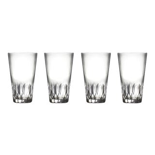Vintage Cut Crystal Highball Tumblers Serving Drinking Glasses - Set of 4 For Sale