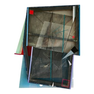 1980s Abstract Expressionism Mixed Media Wall Sculpture For Sale