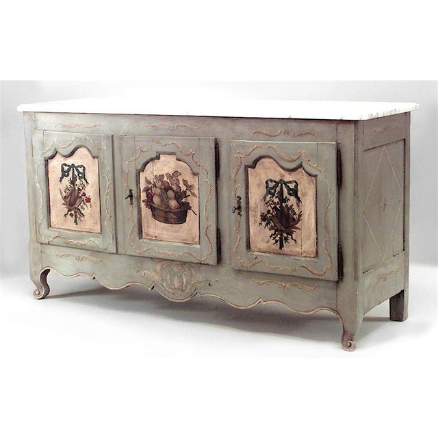 Early 19th Century French Provincial Grey Painted Commode For Sale - Image 5 of 5