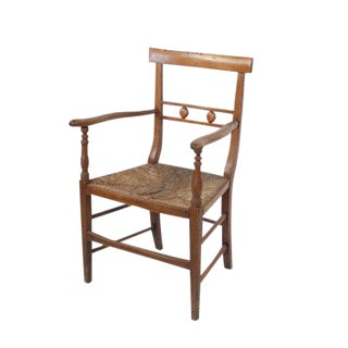 1830s Provincial French Fruitwood Armchair For Sale
