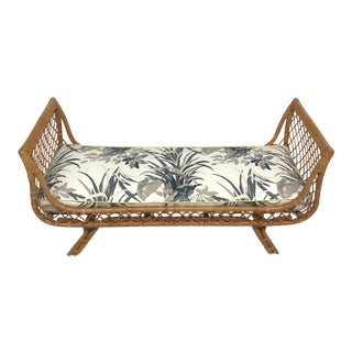 Palm Beach Style Rattan Bench