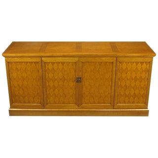 Heritage Harlequin Parquetry Front Bleached Mahogany Sideboard For Sale