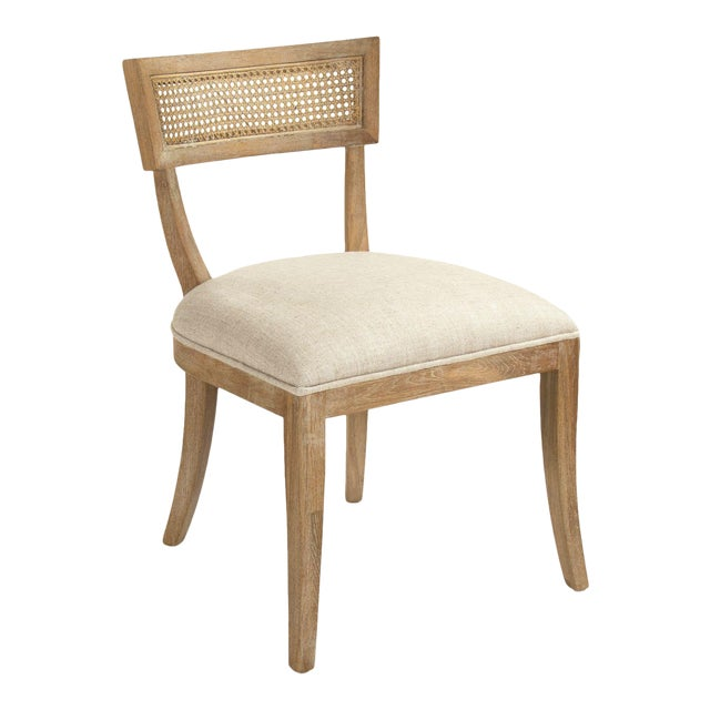 Selborne Cane Back Side Chair in Cream For Sale