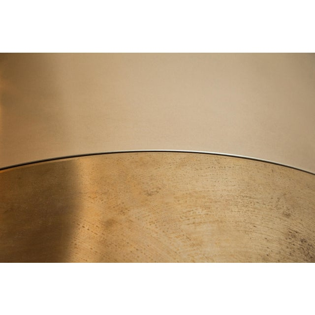 Arc Stool by Ash Nyc in Brass For Sale - Image 9 of 10