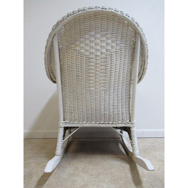 Antique Wicker Outdoor Patio Rocking Chair - Image 6 of 7