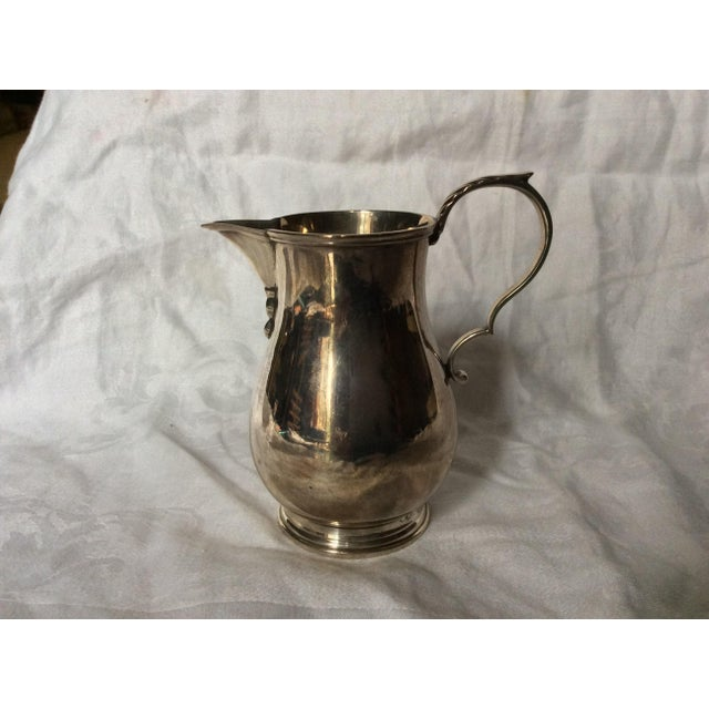 English Traditional Fine English Sterling Creamer Jug For Sale - Image 3 of 8