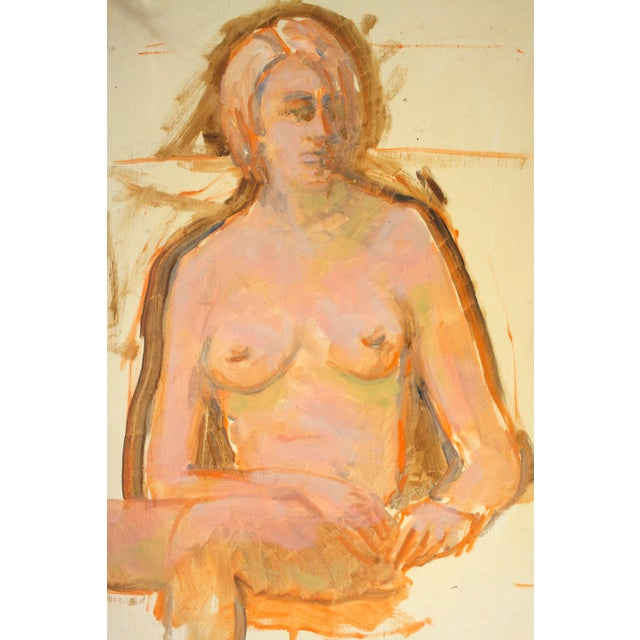 Nude Woman Portrait Paintings- Set of 2 - Image 3 of 5
