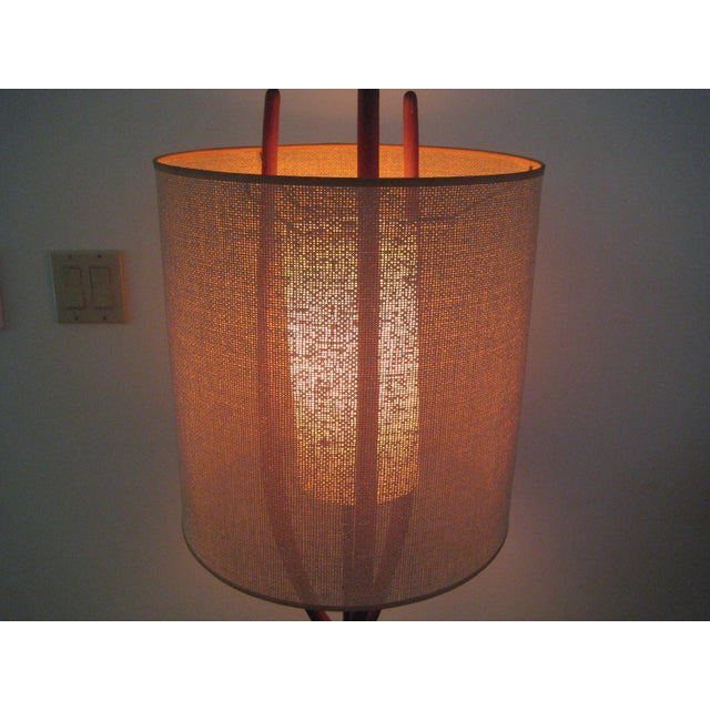 Adrian Pearsall Pearsall Walnut Lamp With Original Shade For Sale - Image 4 of 9