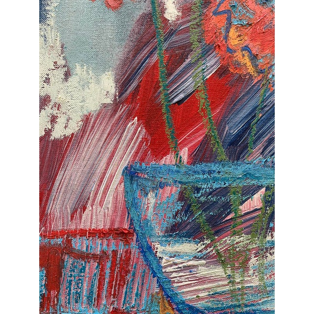 """2020s """"You Brought Me Flowers"""" Contemporary Abstract Still Life Mixed-Media Painting by Monica Shulman For Sale - Image 5 of 6"""
