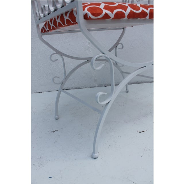 Arthur Umanoff The Granada Collections Iron Bench For Sale - Image 7 of 8