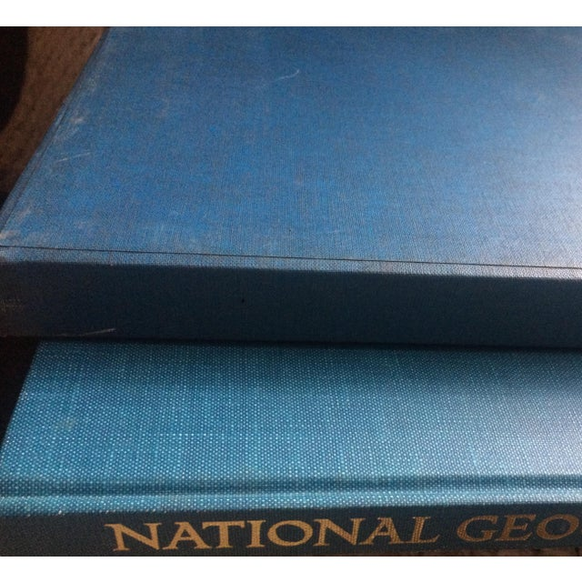 Blue 1963 National Geographic Atlas of the World First Edition Book For Sale - Image 8 of 12