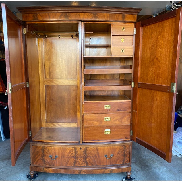 We purchased this antique mahogany chifforobe in Laurel, MD in ~2001 and have used it in a chic high end bed and breakfast...
