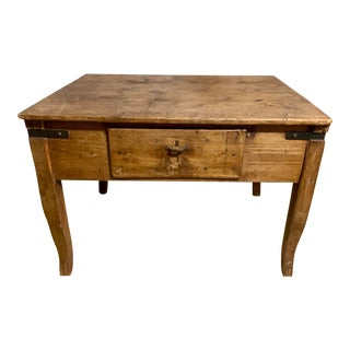 19th Century French Country Oak Work Table For Sale