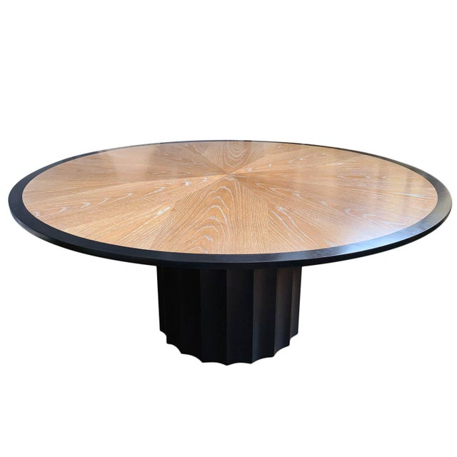 Wood Cerused Oak Dining Table For Sale - Image 7 of 7