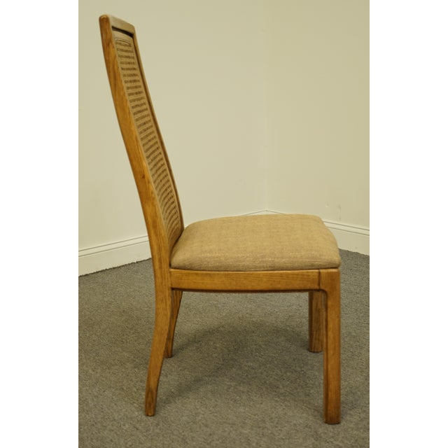 Tan Vintage Thomasville Furniture Forecast Collection Contemporary Cane Back Dining Side Chair For Sale - Image 8 of 9