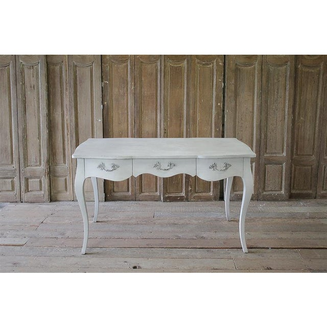 20th Century Louis XV Style White Painted Desk - Image 2 of 6