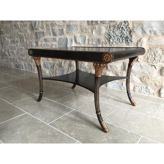 Nancy Corzine Neoclassical Black Coffee Table - Image 2 of 6