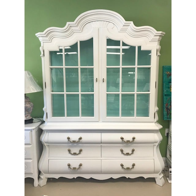 1970s Vintage China Cabinet For Sale - Image 5 of 5