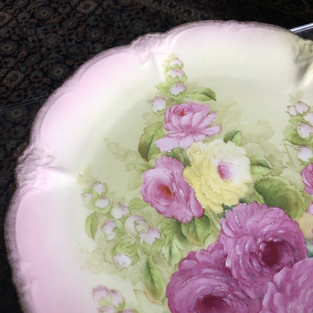 Vintage Hand Painted and Signed Vintage Bavarian Charger Plate For Sale - Image 12 of 13